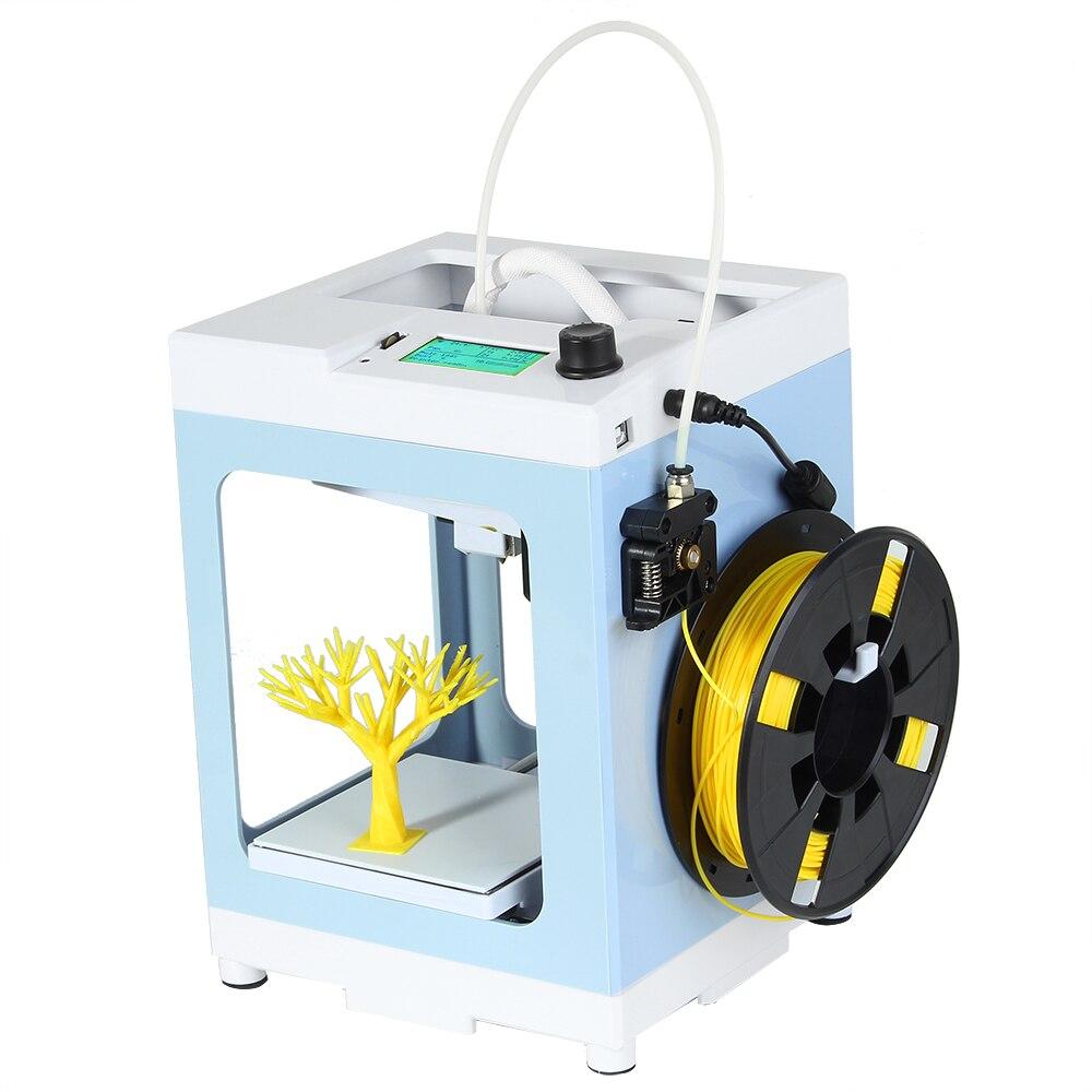 Creativo Mini 3D Stampante Schermo LCD imprimante impressora 3d 110*110*125mm Dimensioni di Stampa con il REGALO TF lettore di Schede di PLA Filamento