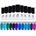 Born Pretty Soak Off UV Gel Varnish Blue Series Manicure Nail Art Gel Polish 12 Candy Colors #73-84