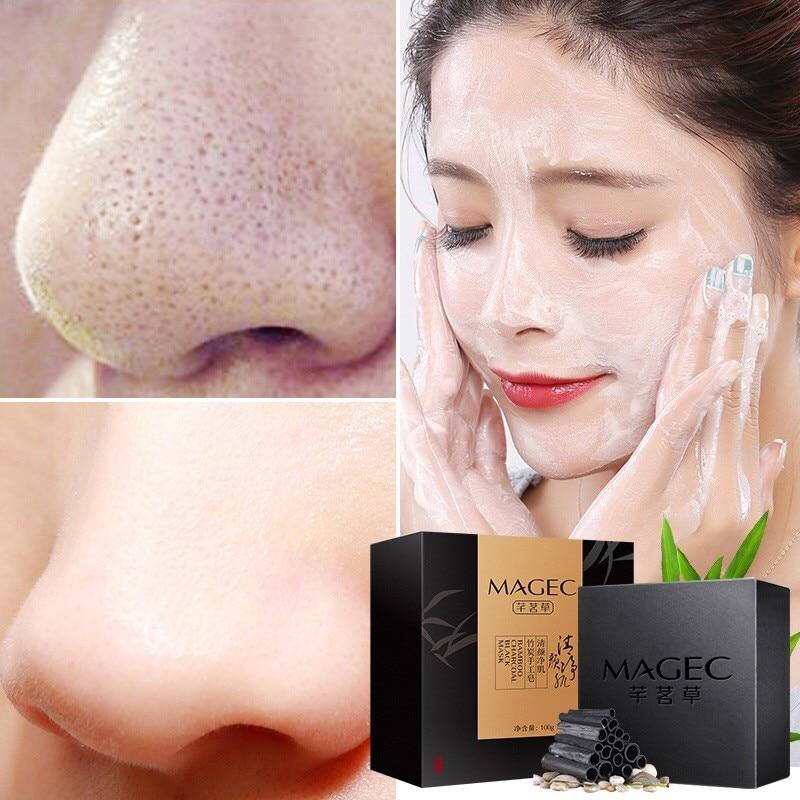 Skin Whitening Soap Bamboo Charcoal Handmade Soap  Blackhead Remover Acne Treatment Skin Care Face Wash Hair Care Bath