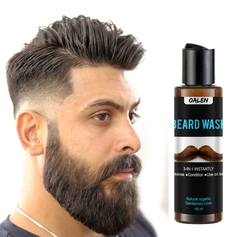 Beard Wash Men's Beard Shampoo Deep Cleansing Nourishing Beard Cleanser Repair Conditioner Keep Beard Shaping Growth Liquid 2