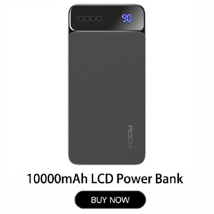 Rock-Portable-10000mah-Power-Bank-Slim-Thin-Backup-Charger-Polymer-Digital-Display-Powerbank-10000-mah-External