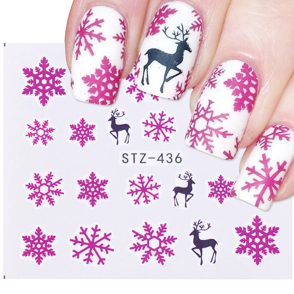 Nail Art Sticker New Year , Tattoo Christmas Water Decal