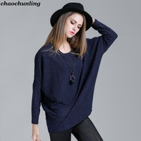Women Fashion Knitted Sweater 2017 New Arrival Autumn And Winter Lady Sexy Pullovers O Neck Navy