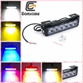 Eonstime 1pcs DC 12V 6LED 6W super bright warning Strobe lights emergency warning light LED Flash Red blue amber white