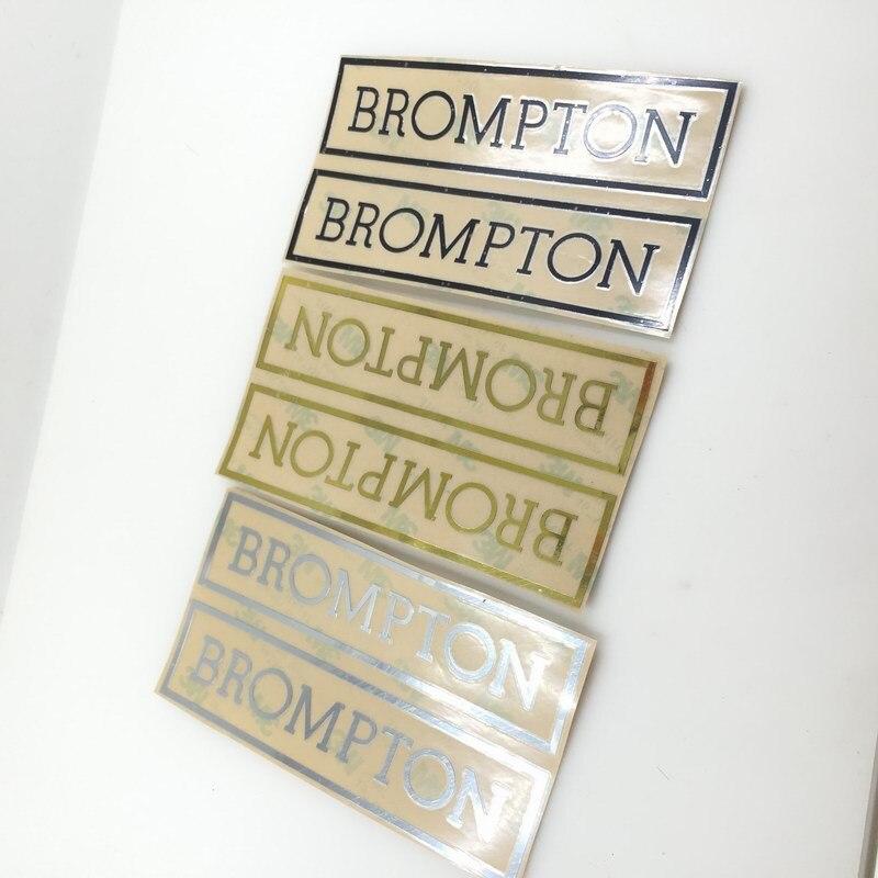 bike Metallic Frame Decal Sticker For Brompton Bike Bicycle Frame Handlebar Stickers 2016 Square Sticker Bicycle Accessories brompton stickers