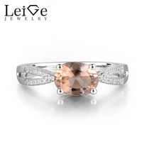 Украшения leige Натурального Розового цвета Morgenite с драгоценным камнем овальное кольцо Винтажное кольцо Обручальные кольца для женщин 925 сере