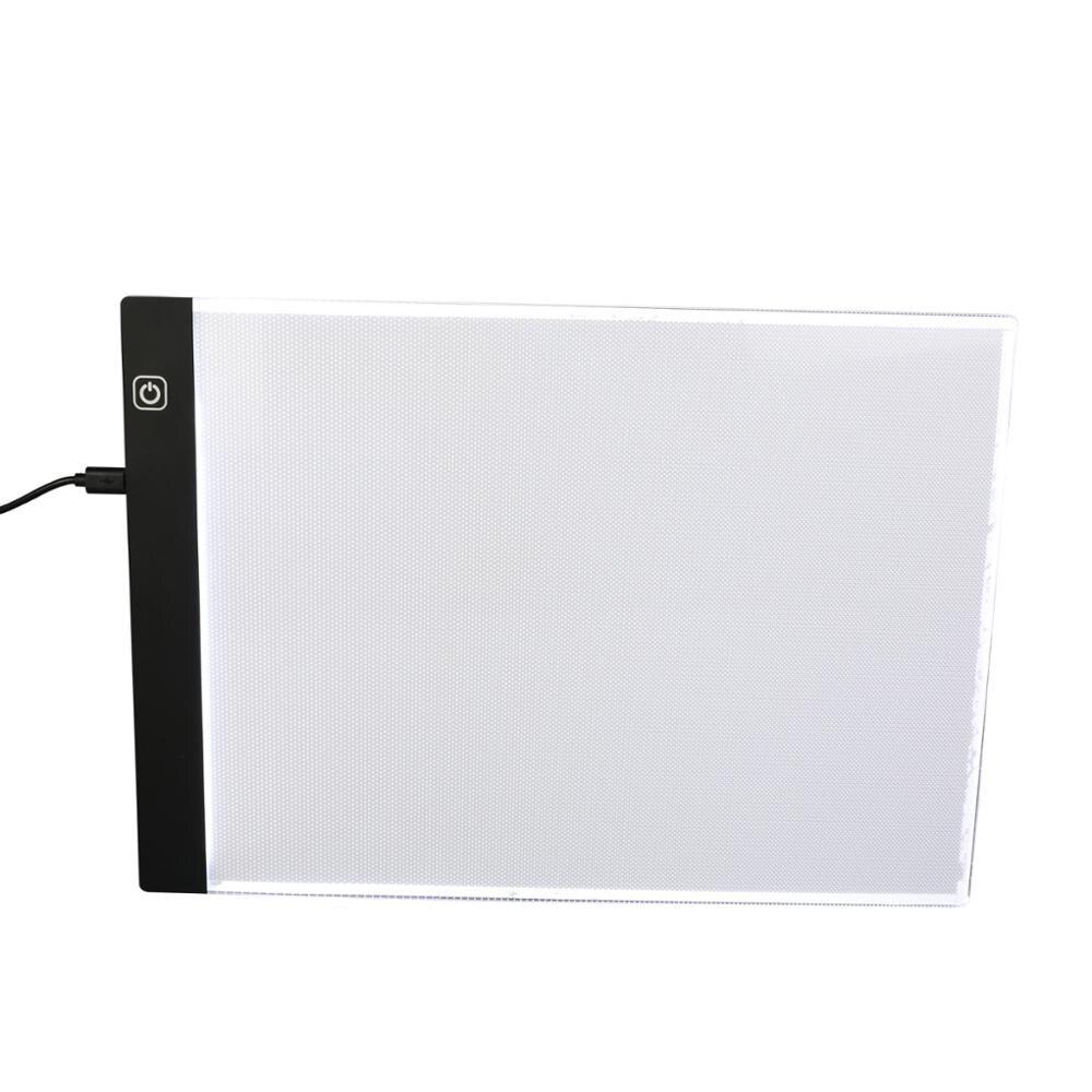 A4 затемнения Яркость ультра-тонкий Портативный светодиодный свет коробка Tracer USB Мощность кабель светодиодный Artcraft трассировки Light Pad художн...
