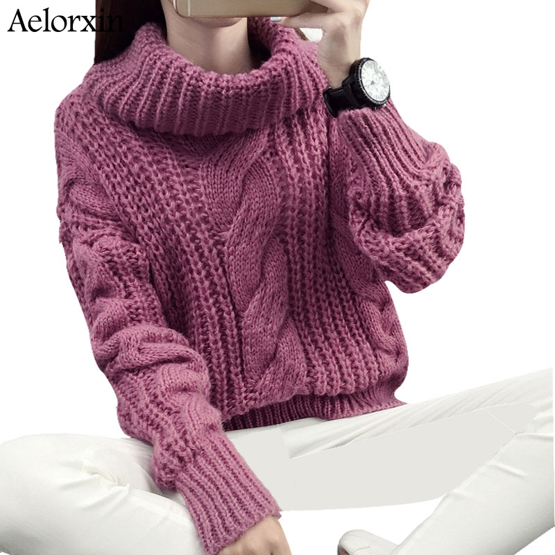 Aelorxin Winter Women Turtleneck Sweaters and Pullovers Long ...