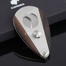 Double Blades Sharp Cigar Cutter Stainless Steel Pocket Gadgets Zigarre Cigarette Knife Cuban Smoking Guillotine by CPCigar
