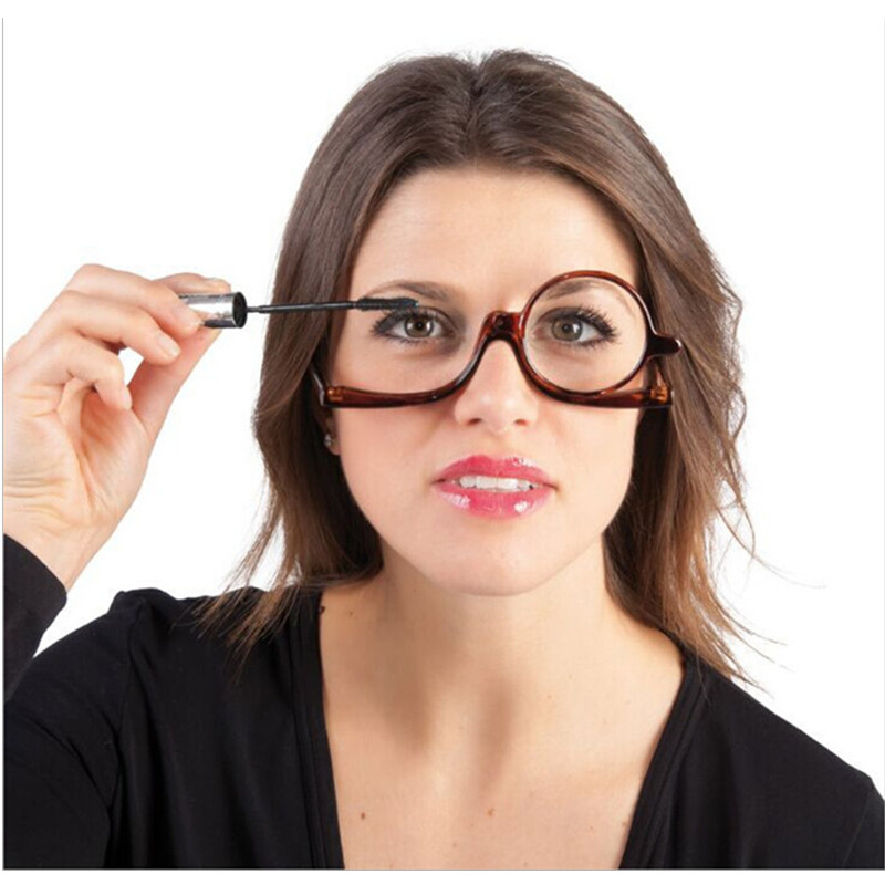 858d359c075 Detail Feedback Questions about 180 Degree Leopard Rotating Monocular Women  Cosmetics Glasses Makeup Reading Glasses Diopter on Aliexpress.com