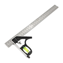 New Adjustable Sliding Combination Square Ruler Level Measuring Tool 300mm Best Quality 12 inch 300mm adjustable sliding combination square ruler