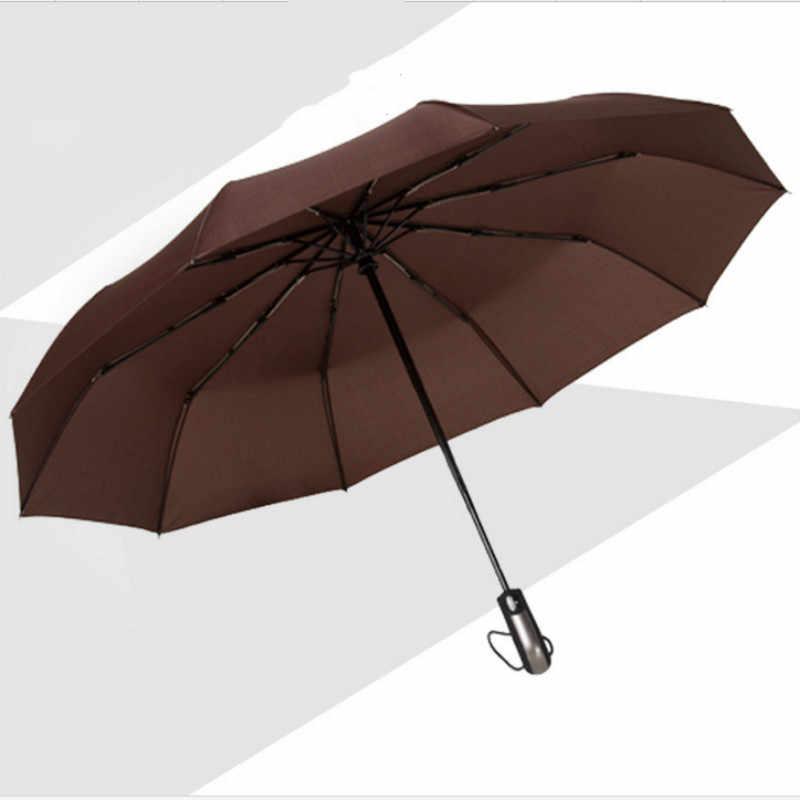 Ветрозащитный три складной автоматический зонт дождь для женщин авто роскошный большой Ветрозащитный зонты Мужская Рама ветрозащитный 10 к зонтик