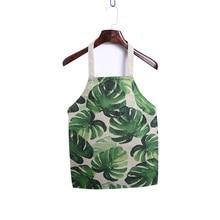 Cooking Waterproof Sleeveless Plants Printed Aprons