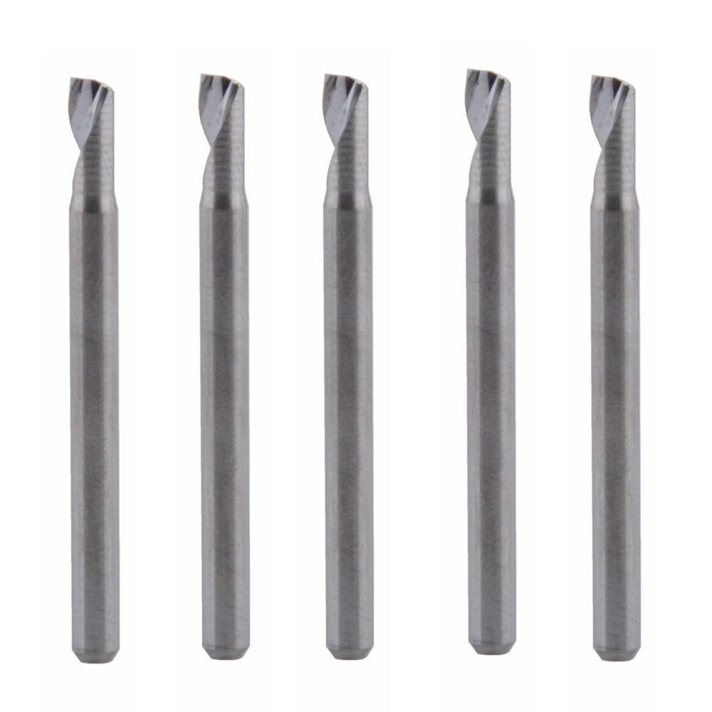 5Pcs 3.175x7mm Single Flute Milling cutters for Aluminum CNC Tools Solid Carbide,aluminum composite panels(China)