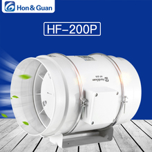 Hon&Guan 8 Home Mixed Flow Inline Duct Fan With 494CFM Strong Ventilation System Extractor for Office, Hotel, Hall