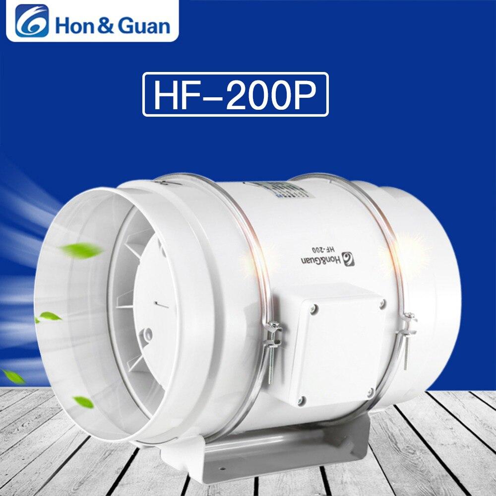 Hon & Guan 8 ''ventilateur de conduit en ligne à flux mixte avec 494CFM ventilateur d'extraction de système de Ventilation fort pour bureau, hôtel, Hall