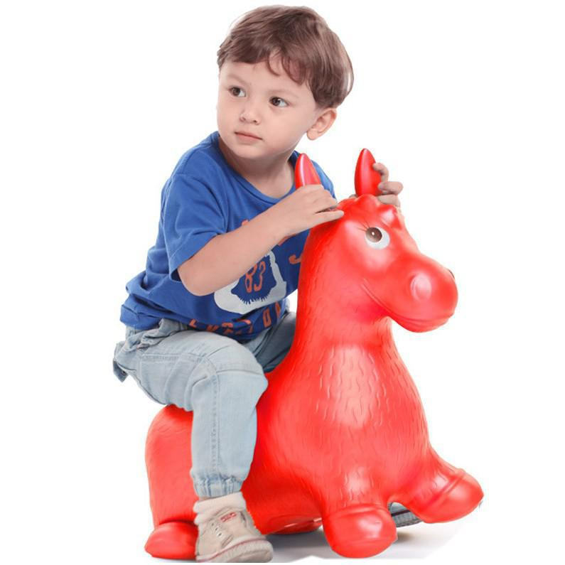 BOHS Rides on Animal Bouncy Horse Hopper Toys Inflatable Bouncer Jumping Child Inflatable Rubber Baby 60*52*28cm china guangzhou manufacturers selling inflatable slides inflatable castles inflatable bouncer chb 29