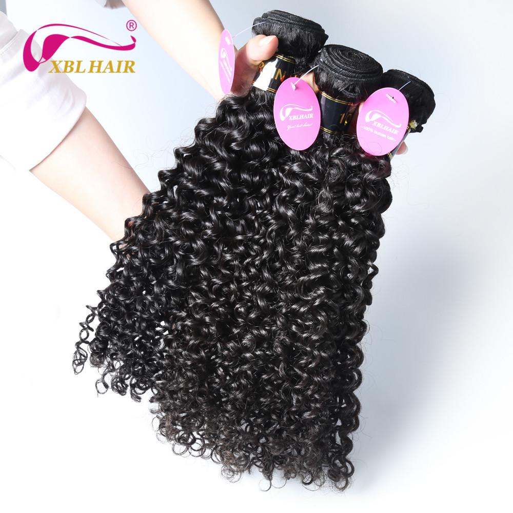 "XBL HAIR Unprocessed Brazilian Virgin Hair Curly Weave Human Hair Extensions Natural Color 1 Bundle 8""-30"" Inches Free Shipping"