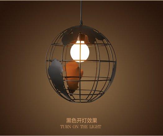 Industrial Metal DIY LOFT  Globe Pendant  Vintage Lamp Fixtures