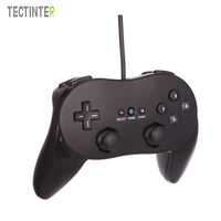 Classic Dual Analog Wired Game Controller Pro For Nintendo Wii Remote Double Shock Game Controller Gamepad
