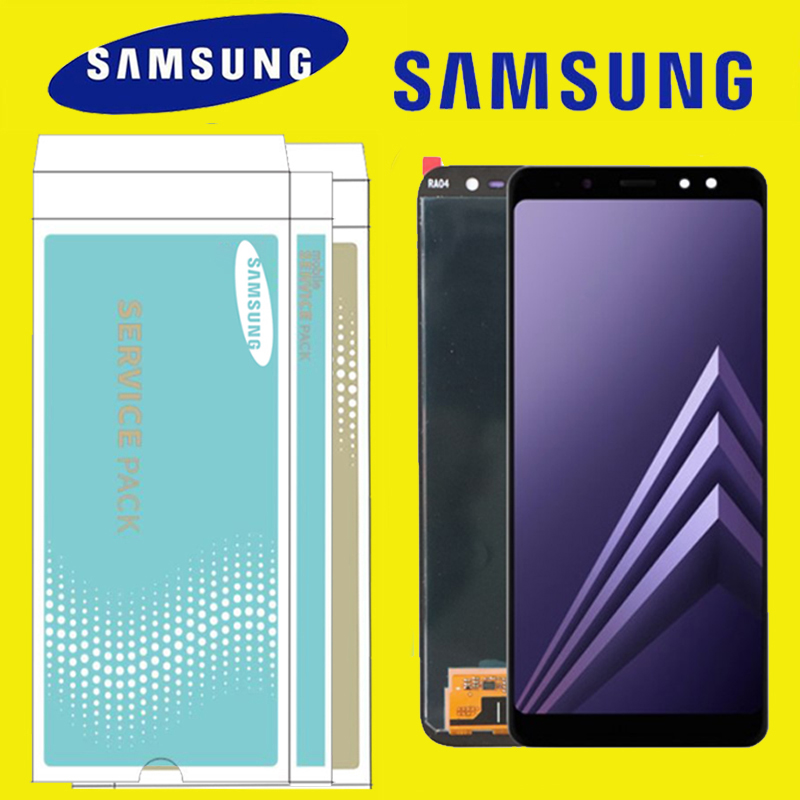 ORIGINAL 5 6 Replacement LCD for SAMSUNG Galaxy A8 2018 Display A530 Touch Digitizer Assembly with
