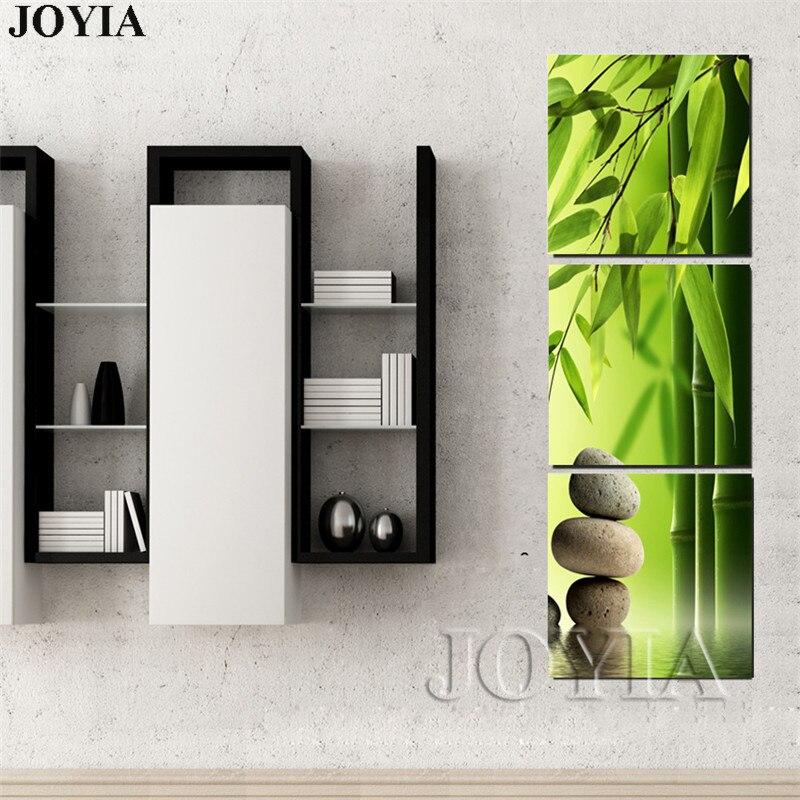 ヾ(^▽^)ノ3 unidades verde bambú pintura para la pared feng shui ...
