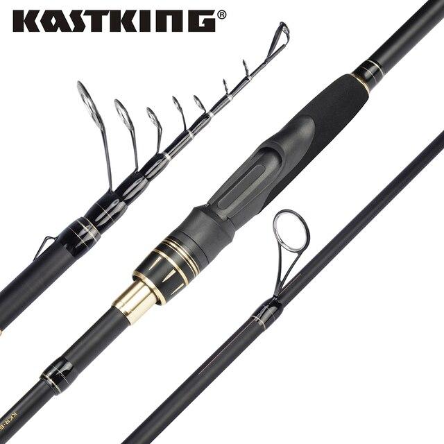 Телескопическо-рыболовные удочки Kastking Blackhawk 99% углеродного материала, портативно-рыболовные спиннинги снасти моря с различными размерами. Бесплатная перевозка.