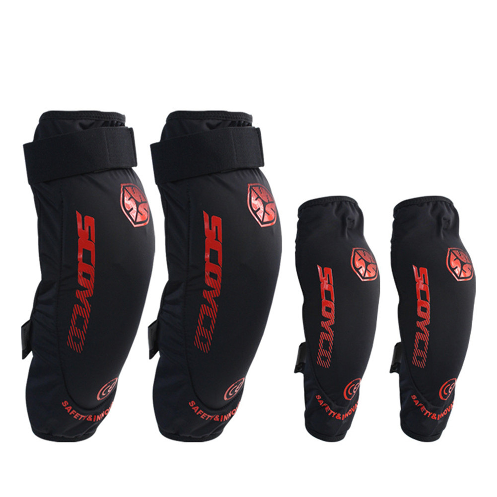 CE Approval Motorcycle Protective Kneepad Scoyco K18-H18 Knee Elbow Pads Protector Equipment Joelheiras De Motocross Guards scoyco k11h11 motorcycle sports knee elbow protector pad guard kit black