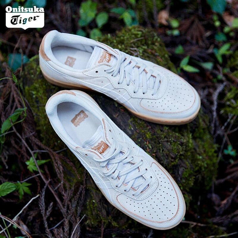 Onitsuka Tiger/обувь для скейтбординга унисекс, удобная дышащая обувь для отдыха из воловьей кожи для мужчин и женщин, нескользящая GSM 1183A039