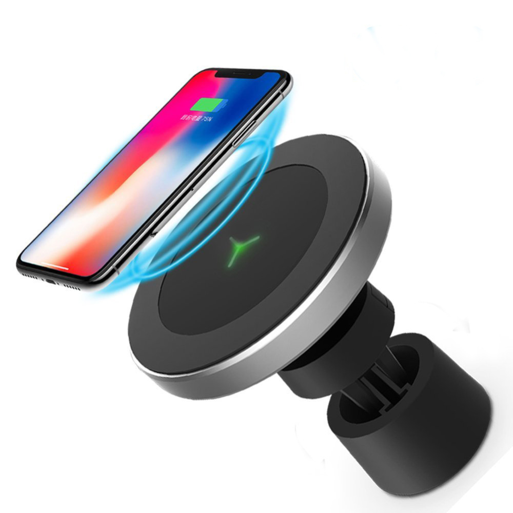 Magnetic Wireless Car Charger Air Vent and Dashboard Mount Holder Cradle For Qi Enabled Smartphone hx m x16 car air vent mount holder
