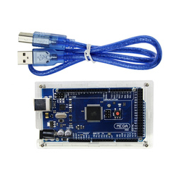Hot Mega 2560 R3 Mega2560 ATmega2560-16AU CH340G Board + Acrylic Case + USB Cable Compatible for Arduino kit ATMega16U2