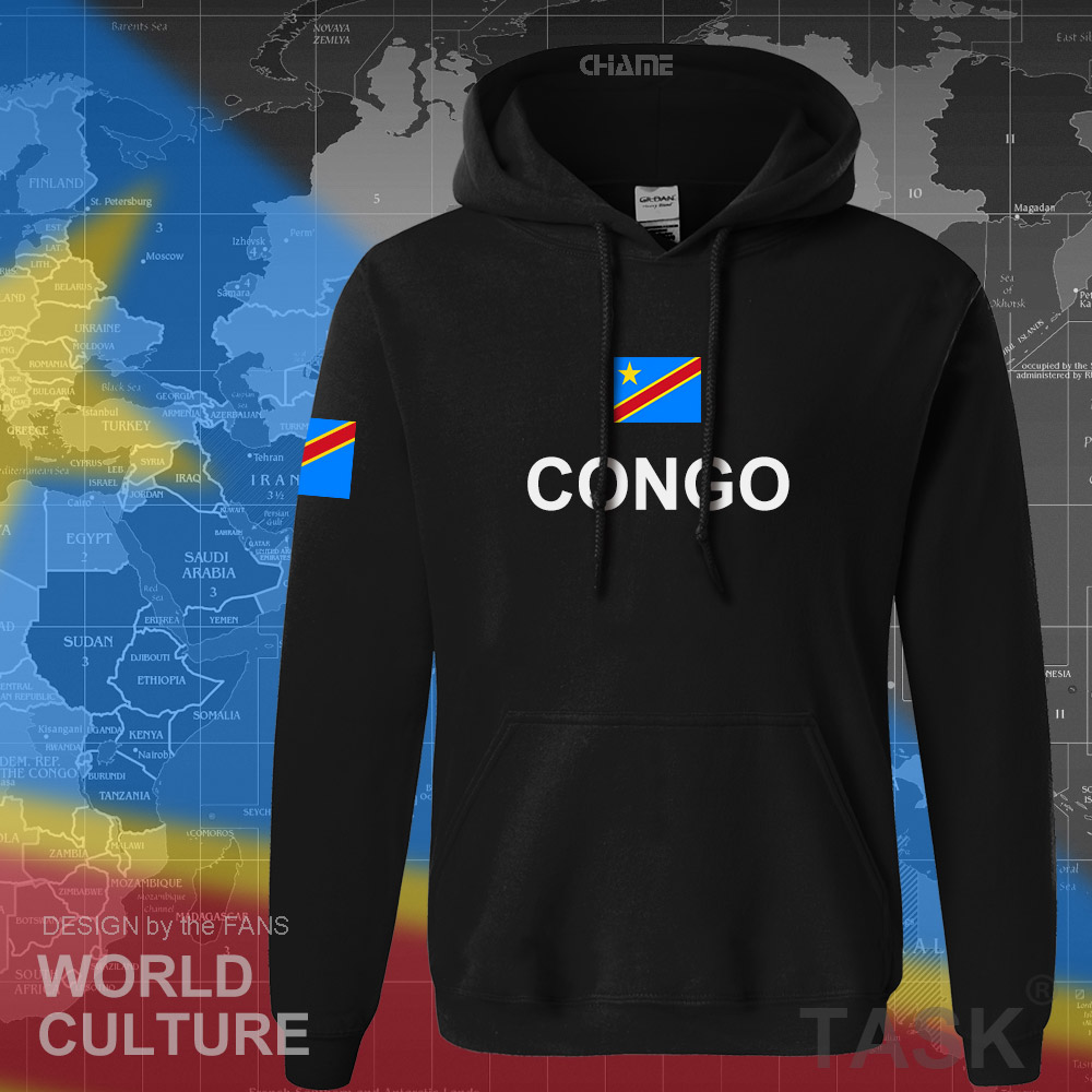 Image 2 - DR Congo hoodies men sweatshirt sweat new hip hop streetwear clothing sporting tracksuit COD DRC DROC Congo Kinsha Congolese-in Hoodies & Sweatshirts from Men's Clothing