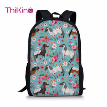 Thikin Arabian Horse SChildren Primary School Bags for Boys& Girls Schoolbag Teenager Backpack Cool Bookbags Animals printed cool schoolbag big shark cartoon backpack black bookbags fashion primary school backpacks boys rucksack bagpack