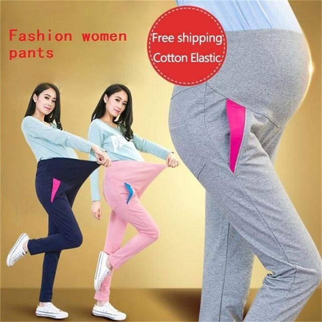 Elastic Waist Maternity Leisuretrousers For Pregnancy Clothes For Pregnant Women spring/autumn Free shipping Maternity Plus Size