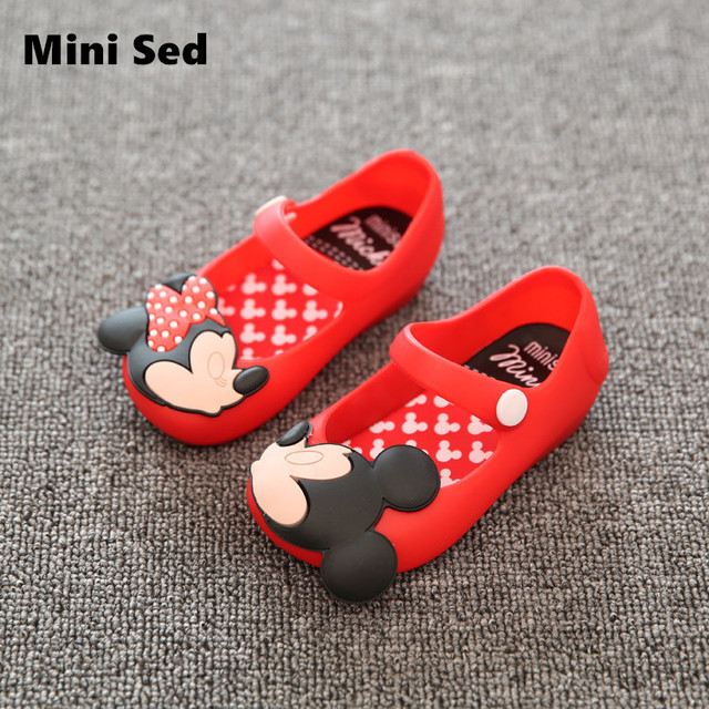 Mini SED Shoes 2017 Summer Cartoon Girls Sandals Cute Sandals For Girls  Children Shoes For Girl