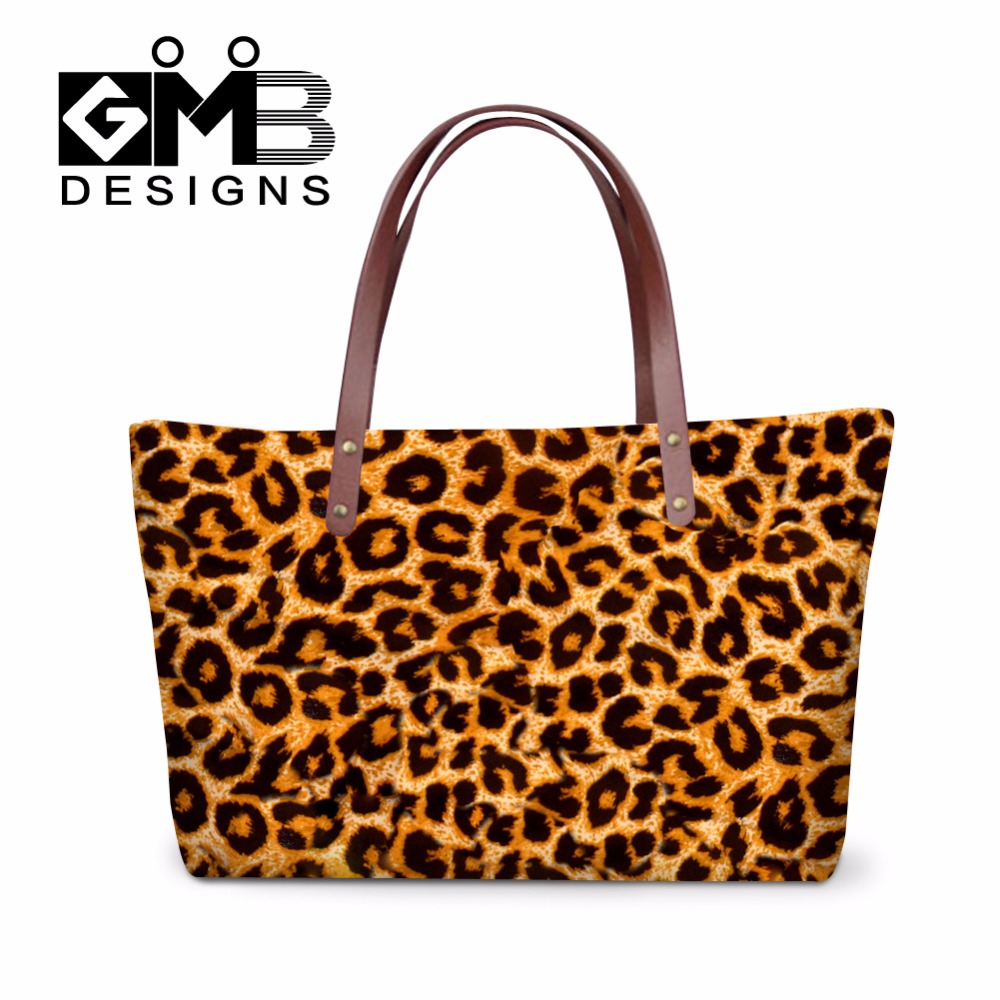 Leopard Print Shoulder Handbags For Women Clear Totes S Hand Bags School Las Travel In From Luggage