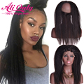 Brazilian Lace Frontal 360 Kinky Straight Hair 7a 360 Lace Virgin Hair Brazilian Kinky Straight Frontal Pre Plucked 360 Frontal