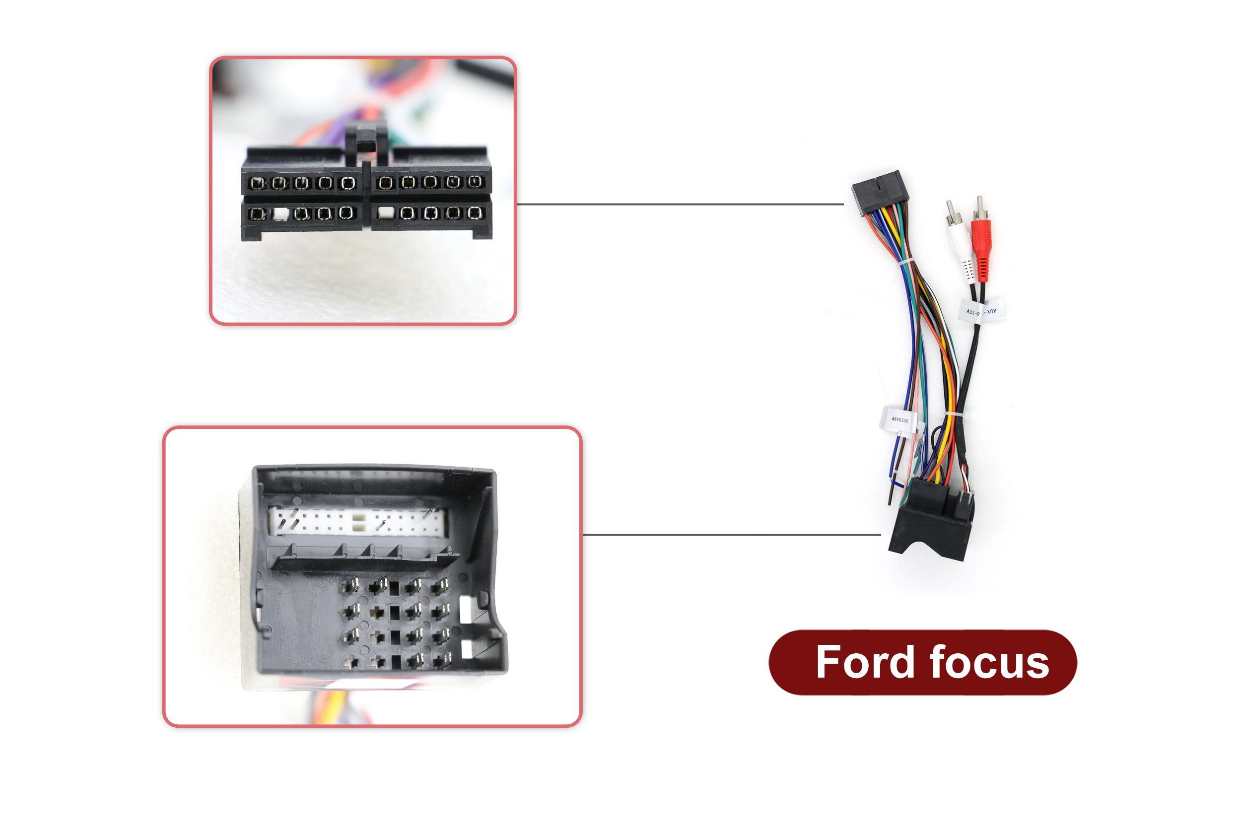 US $9.21 21% OFF|For Ford Focus ISO Wiring Harness Car Radio Adaptor on