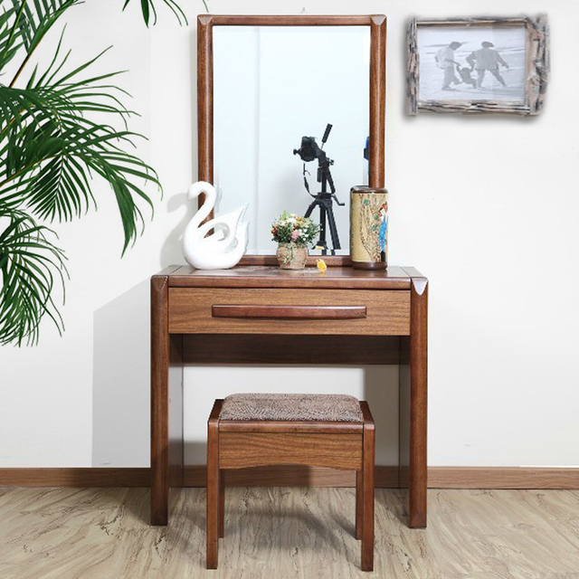 Good Comrade Small Apartment Minimalist Bedroom Dresser Simple Dressing Table Solid Wood Chinese