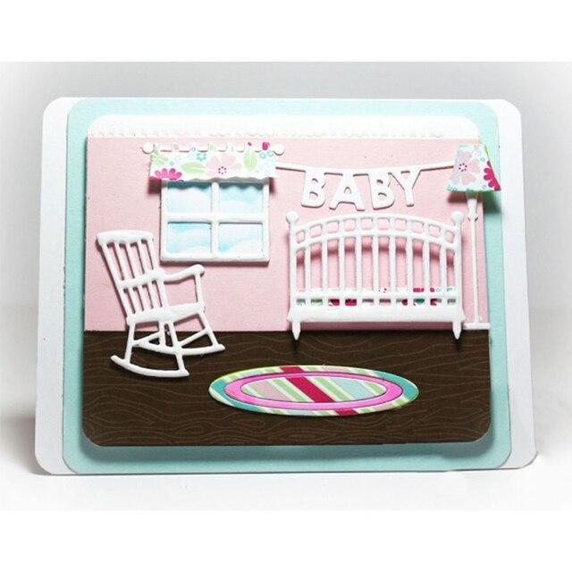 Matrice de découpe en métal pochoirs bricolage | Lampe de lit de chambre à coucher de bébé, pochoirs décoratifs pour costume de gaufrage cartes en papier découpe par découpe