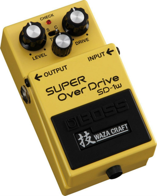 Boss SD-1W Waza Craft Super Overdrive Special Edition Guitar Effect Pedal with Free Bonus Pedal Case