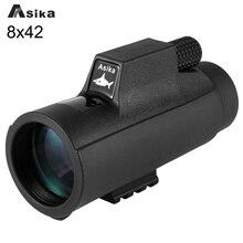 Discount! Telescope Monocular 8x Black Asika 8X42 Bak4 Prism for Camping Telescope Focuser Monocular Waterproof Hunting
