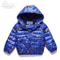 SP-SHOW Outono Inverno Outwear Jaqueta Com Capuz Menino E Menina das Crianças Roupas Para Baixo E Parkas Casacos Para 6-14 idade Soild 2153