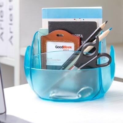 Multi-function creative remote receive case oval desktop sundry storage box 7*15cm