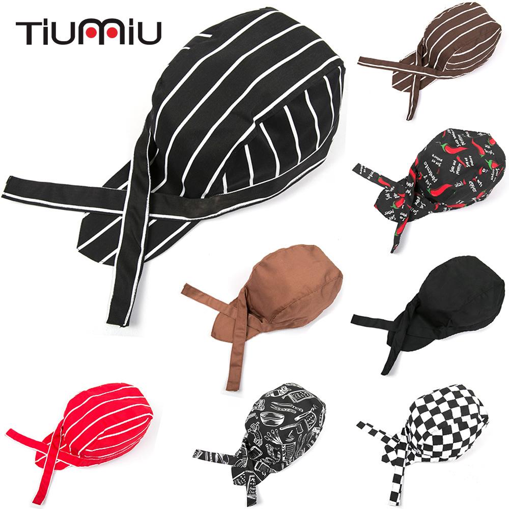 5pc/lot High Quality Wholesale Pirate Hat Chef Waiter Hat Hotel Restaurant Canteen Bakery Chef Cooking Caps Cookers Workwear Cap