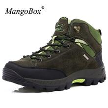 Mangobox открытый Мужская обувь против скольжения Для мужчин S Альпинизм Ботинки Одежда высшего качества Военное Дело Мужские ботинки износостойкая Для мужчин S треккинг Ботинки