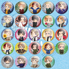 1pcs 58MM Anime Axis Powers Hetalia Cute Country Russia,Italy,United States,United Kingdom Badge Brooch Anime Badge