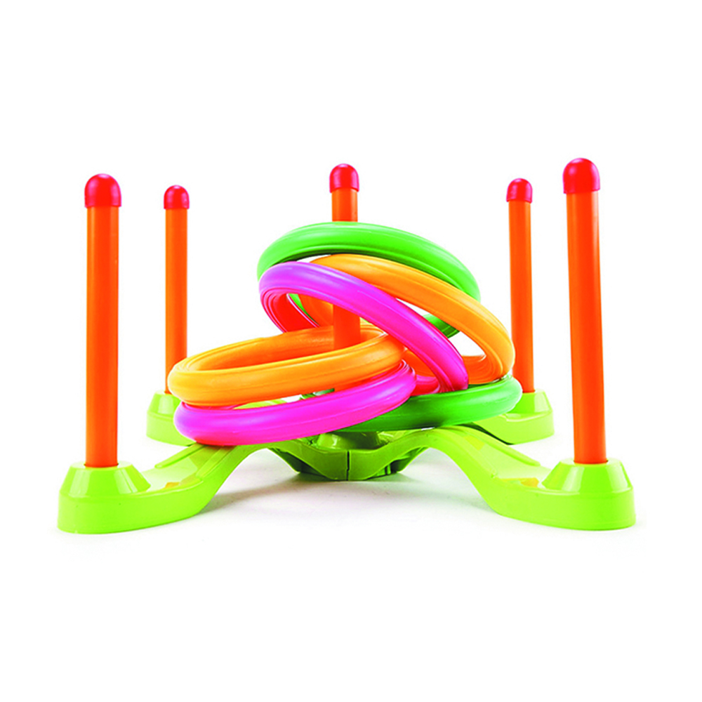 Hoop Ring Toss Plastic Ring Toss Toy Sports Outdoor Fun Educational Set