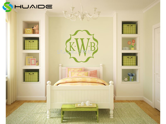 Custom Family Name Wall Stickers Home Decor Bedroom Personalized ...
