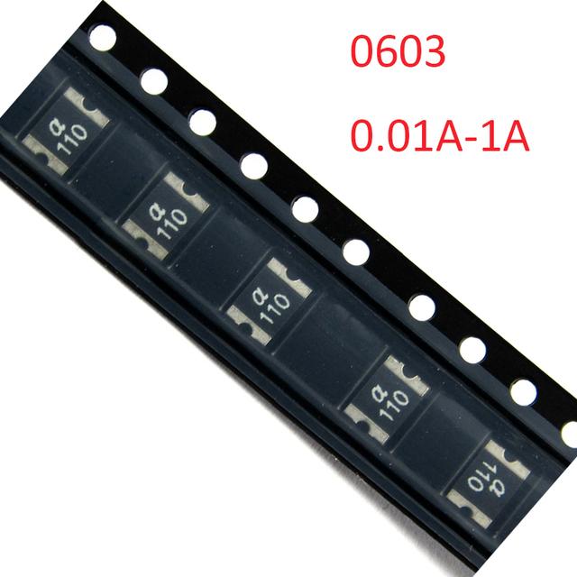 1A 1000MA 6V 8V 16V 24V 32V 0603 PPTC Polyswitch Polyfuse Electrical SMD SMT Chip Self Healing Recovery Resettable Fuse
